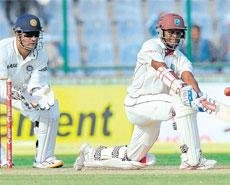 Chanderpaul keeps India at bay