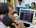 Sensex snaps 5-day rally on low growth estimates, global cues