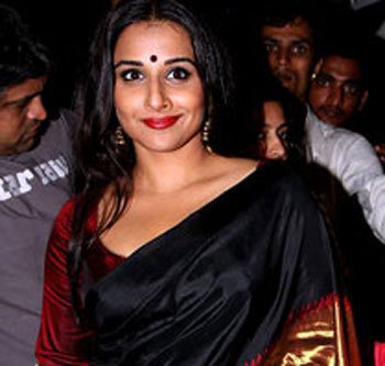 Can Vidya's kanjeevaram look revive hand-woven saris?