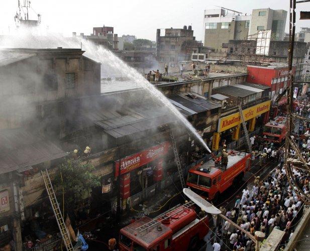 One of Kolkata's oldest markets gutted in devastating fire