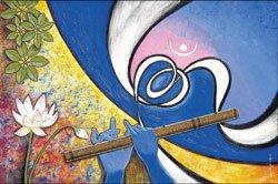 Krishna on canvas
