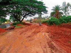 Repair of road causes hurdles for drivers
