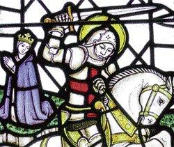 St George, the patron saint of England