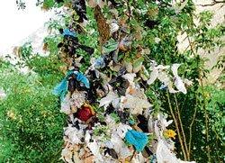 Pleas and prayers on sacred tags