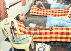 Blood donors by 'accident'