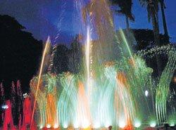 Musical fountain goes mute  at Kuppanna Park