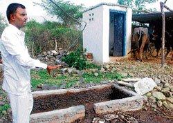 This village in Gulbarga reuses  human refuse as kitchen fuel