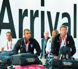 First batch of athletes, visitors lands in London