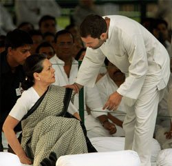 It's upto Rahul to take a call, says Sonia