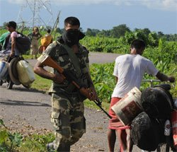 Delay in army deployment in Assam violence-hit areas