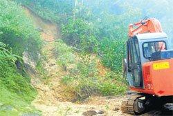 Heavy rains affect traffic in Koppa