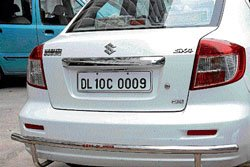 VIP on number plate only