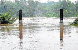 Rivers continue to overflow in Dakshina Kannada, Udupi districts