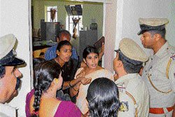 Besieged panchayat officer rescued by police