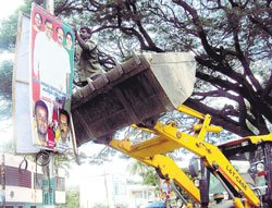 City Municipal Council directs removal of illegal hoardings