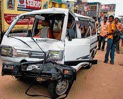 Bus driver falls unconscious; passenger averts accident