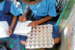 All teachers not alike, some use egg crates to teach Math
