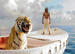 Adrift with a tiger and the film god