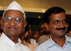 Hazare parts ways with Kejriwal