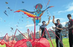 Team M'lore kites fly over France skies
