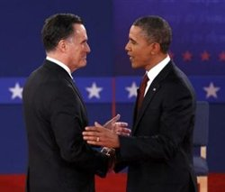 Round 2 goes to Obama; slams Romney's outsourcing plans