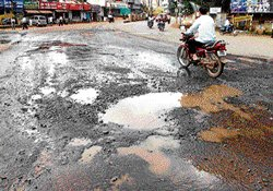 Potholed roads won't see repairs for two months