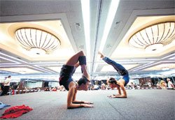 Anti-gravity Yoga becomes the latest fitness trend in US