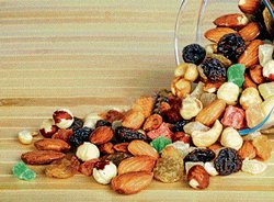 The evergreen nuts and dry fruits