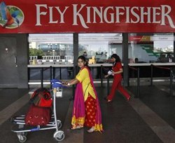 Kingfisher Airlines gains; hopes of truce with workers