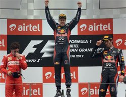 Vettel powers Red Bull to title