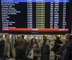 Jet cancels flights, AI flights delayed due to Hurricane Sandy