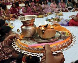 Women fast for husbands on Karva Chauth