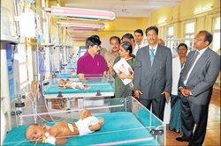 Intensive care unit to ensure infant health