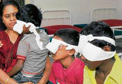 Firecrackers injure many more eyes