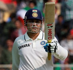 Centurion Sehwag puts India in front