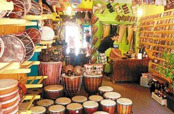 On the drum beat