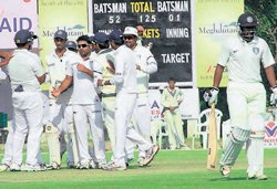 Karnataka batsmen stumble