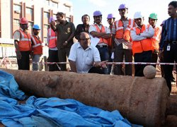 Metro dig unearths 12-ft Tipu cannon