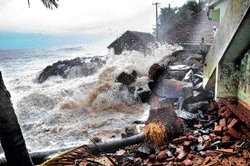 State's coastline depleting: Study