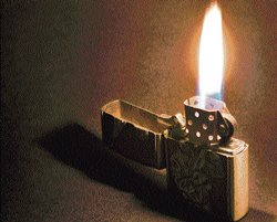 Zippo: Leaning into the wind