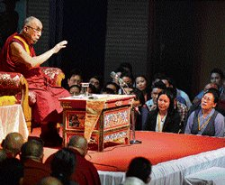 Dalai Lama thanks State for sheltering Tibetans