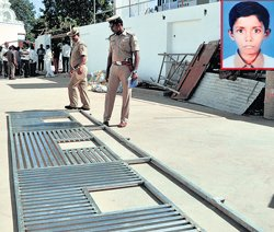 Child killed in gate collapse