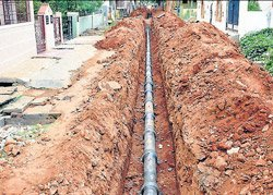 Drainage work, 20 per cent complete