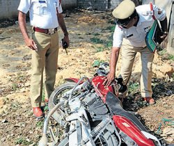 Three students die as bike rams truck