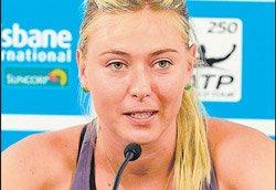 Sharapova withdraws