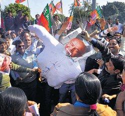 BJP seeks sacking of Shinde over terror remark