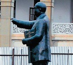 Ambedkar statue goes 19 mm down in City