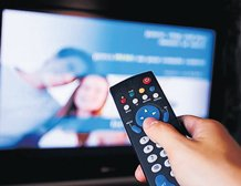 Wave your finger to flip through TV channels
