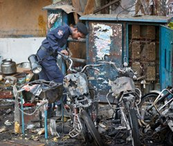 Vital clues from CCTV footage in blast case