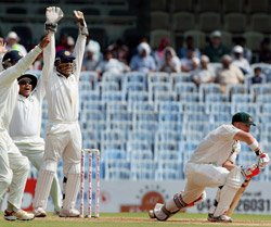 India on top of Australia in first Test